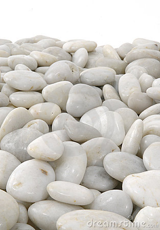 White Stones Background Vertical Isolated