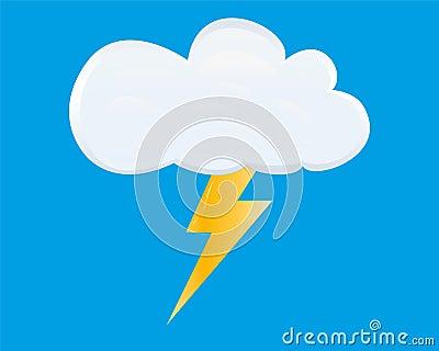 White storm cloud