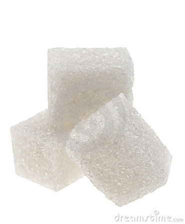 White sugar cube