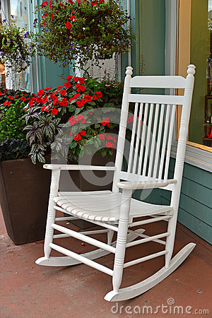 White Summer Rocker