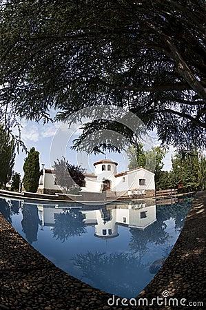White sunny spanish villa