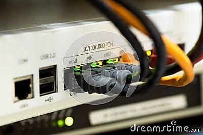 White Switch Hub Turned On Free Public Domain Cc0 Image