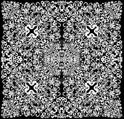 White symmetric square abstract pattern