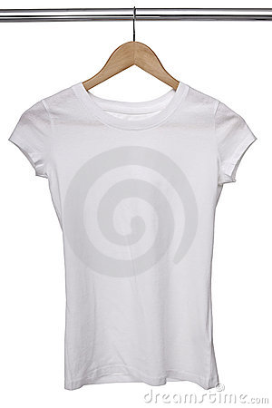 Free White T Shirt On Cloth Hanger Stock Image - 18300001