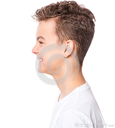 Free White T-shirt On Teen Boy Royalty Free Stock Images - 92043339