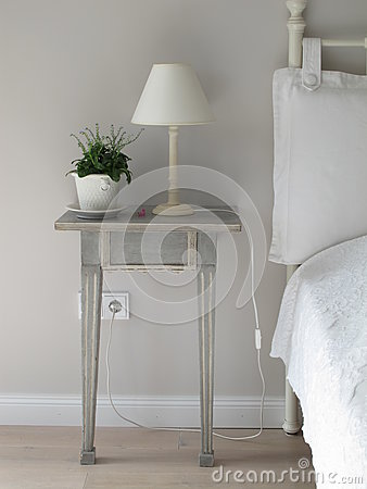 White Table Lamp On Gray Side Table Free Public Domain Cc0 Image