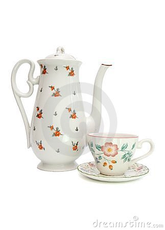 Free White Tea Service With Rosehips Stock Photo - 9776080