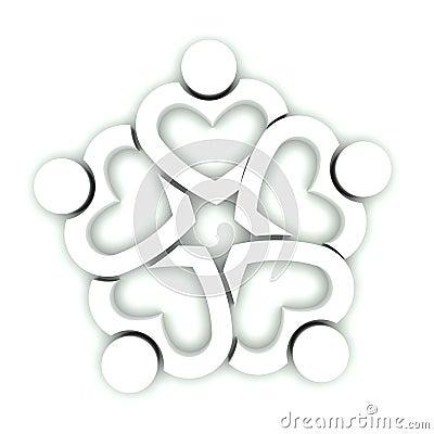 White Team Heart
