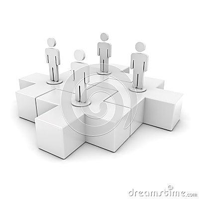 White team on jigsaws