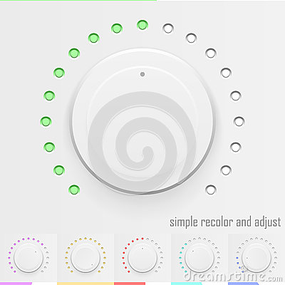 Free White Technology Music Button, Volume Knob With Realistic Design Stock Photography - 72544722