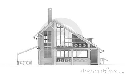 White texture-less house