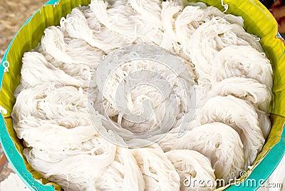 White thai noodle texture
