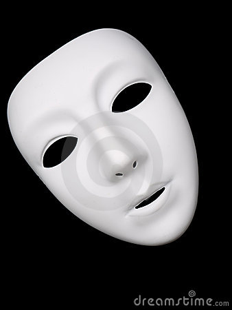 White Theatrical Mask On Black Background Stock Photography Image 14495282