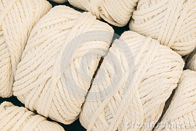 White thread spool