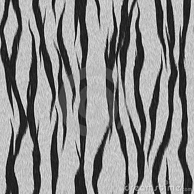 White Tiger Fur Seamless Pattern