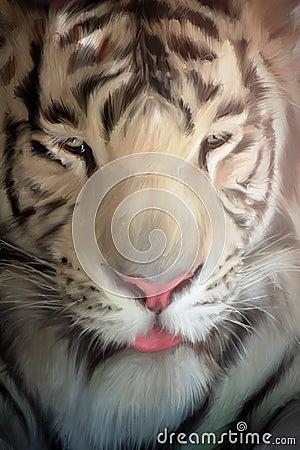 Free White Tiger Portrait Stock Photo - 6831420