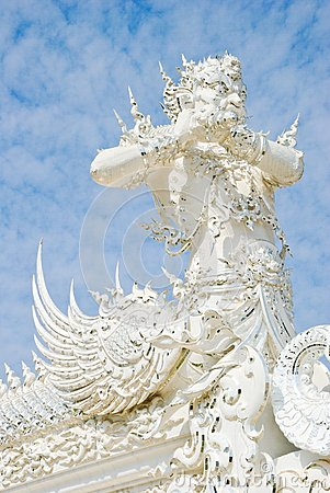 White Titan Statue in Wat Rong Khun, Chiang Rai, Thailand