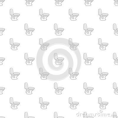 White toilet bowl pattern, cartoon style Vector Illustration