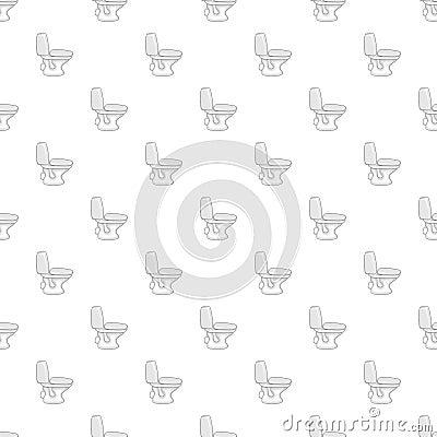 White toilet bowl pattern, cartoon style Vector Illustration