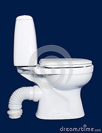 White toilet sanitary isolated