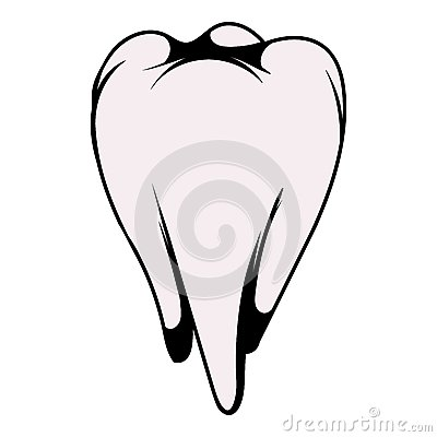 White tooth icon, icon cartoon Vector Illustration