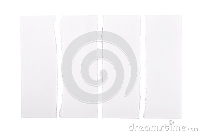 White Torn Paper Strips
