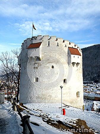 Free White Tower In Brasov, Transilvania, Romania Royalty Free Stock Images - 53038269