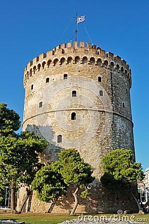 Free White Tower Thessaloniki Royalty Free Stock Image - 43575486