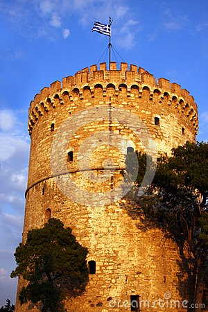 White tower in Thessaloniki Greece
