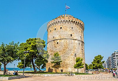 The White tower of Thessaloniki Editorial Photo