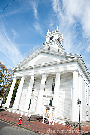Free White Traditional Church. Stock Images - 47887604