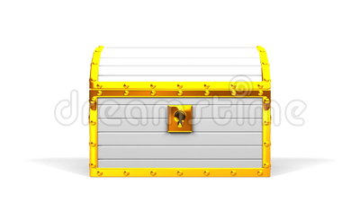 white treasure chest stock footage illustration of business 70056208