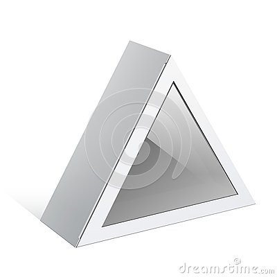 White triangular shape Box. For electronic device.
