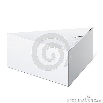 White triangular shape Box. Vector