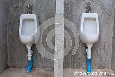 White urinals