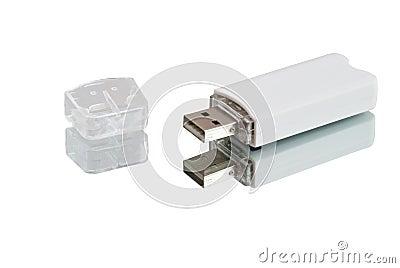 White USB-flash drive