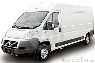 White Van Royalty Free Stock Photo - Image: 5036705