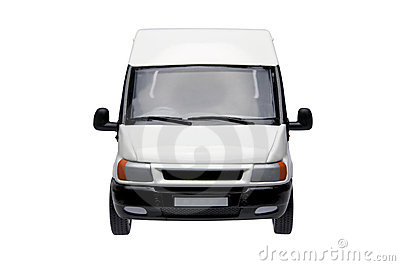 White van front