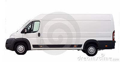 White van isolated