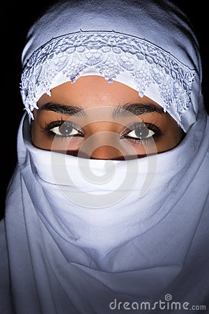 White veil on African woman