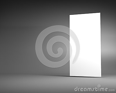 White Vertical Billboard on a Dark Grey Background