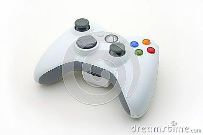 White Video Game Controller on White Editorial Stock Photo
