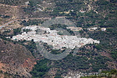 White village in the mountains. Spain