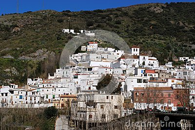 White village, Torvizcon, Andalusia, Spain.