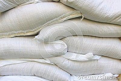 White vinyl sand bag