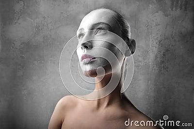 White visage