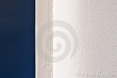 White and blue surface