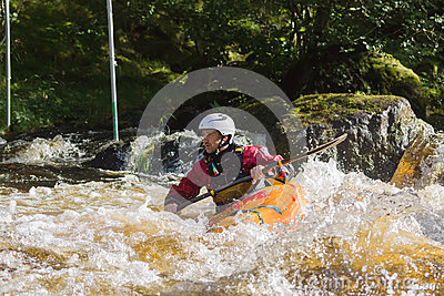 White Water Kayaking Editorial Stock Photo