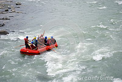 White water rafting Editorial Image