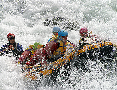 White Water Rafting in New Zealand Editorial Image